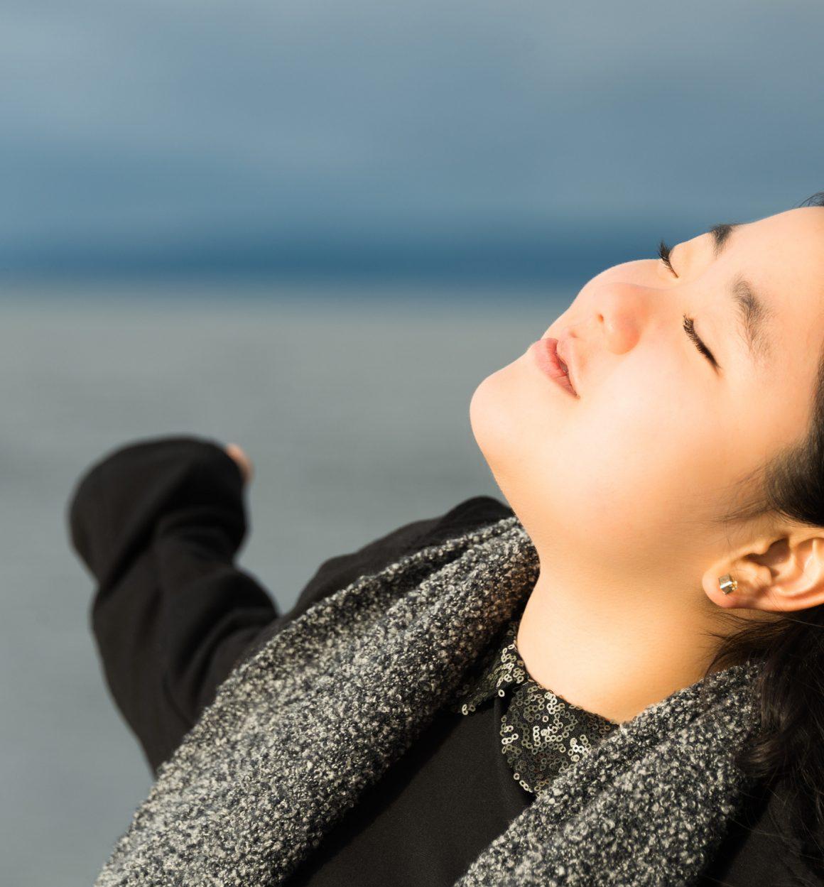 Beautiful Blissful Young Asian Woman