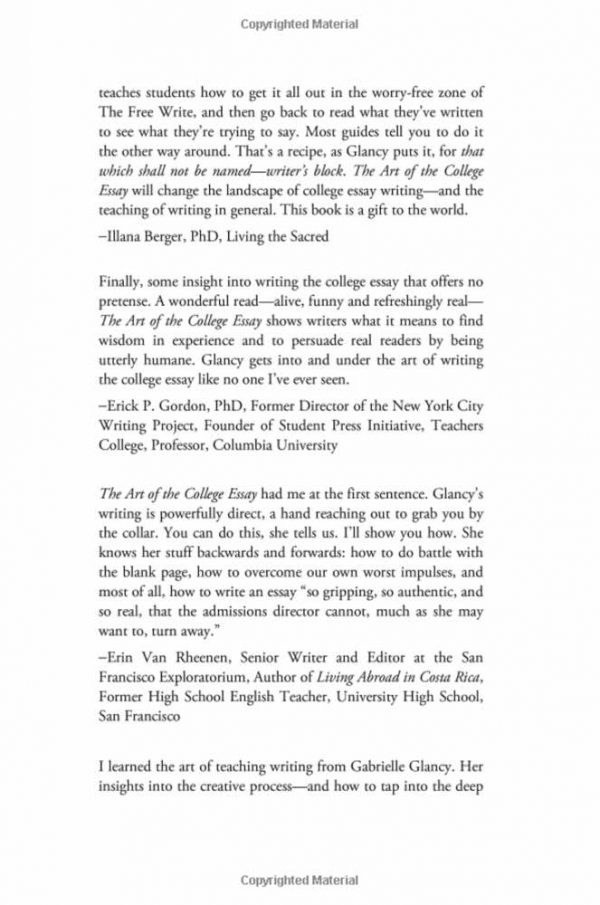 The Art of the College Essay Gallery Image 3
