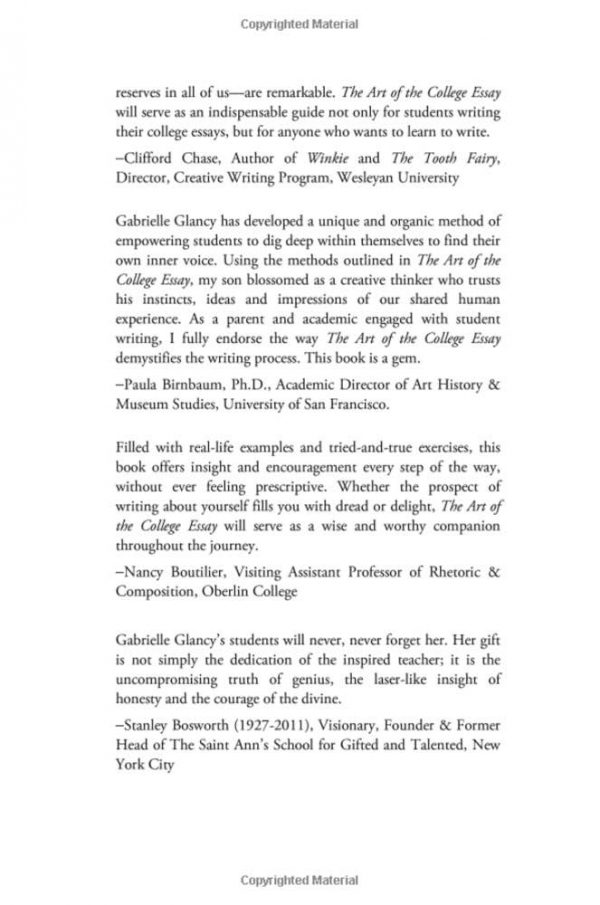 The Art of the College Essay Gallery Image 4